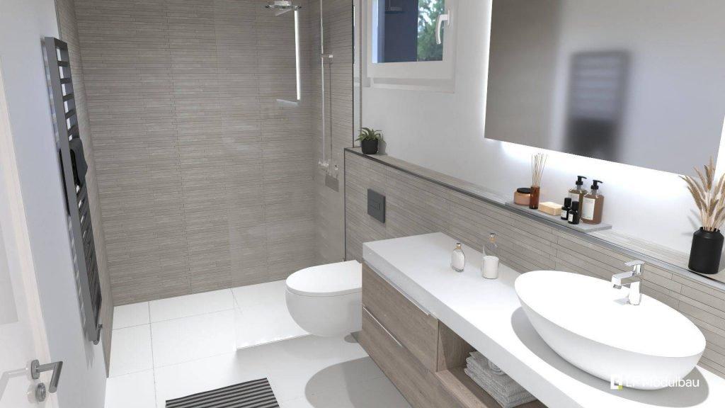 Das WC unseres Fertighauses in modulbauweise - LF Home II