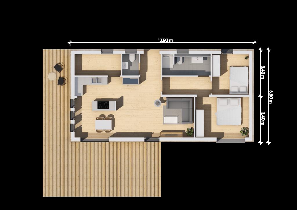 Grundriss 13,5m (LF Home II) mit G