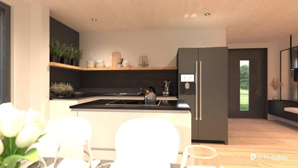Die Küche unseres Fertighauses in modulbauweise - LF Home II