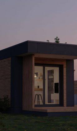 Die Außenansicht unseres Fertighauses in modulbauweise - LF Home I
